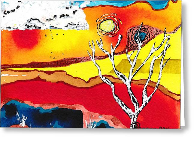 Extreme Heat Greeting Card by Ronda Breen