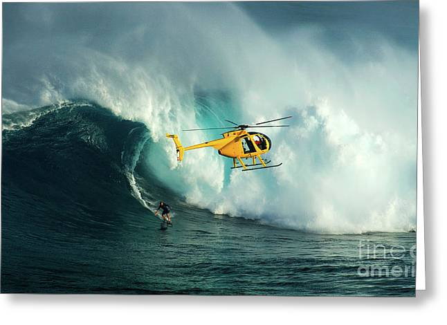 Extreme Surfing Hawaii 6 Greeting Card