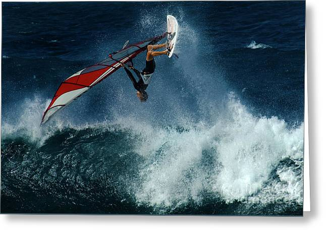 Extreme Wind Surfing Hawaii 1 Greeting Card