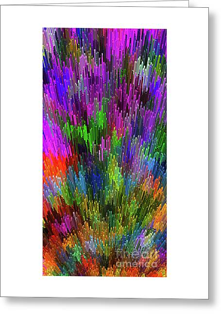 Greeting Card featuring the digital art Extruded City Of Color By Kaye Menner by Kaye Menner