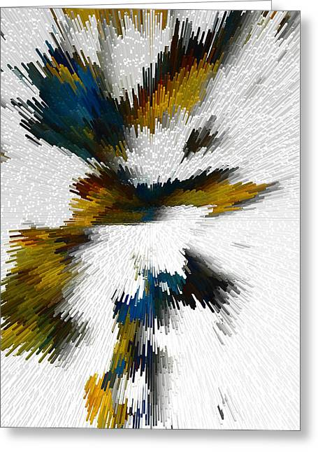 Greeting Card featuring the digital art Sculptural Series Digital Painting 612.102310extrusion by Kris Haas