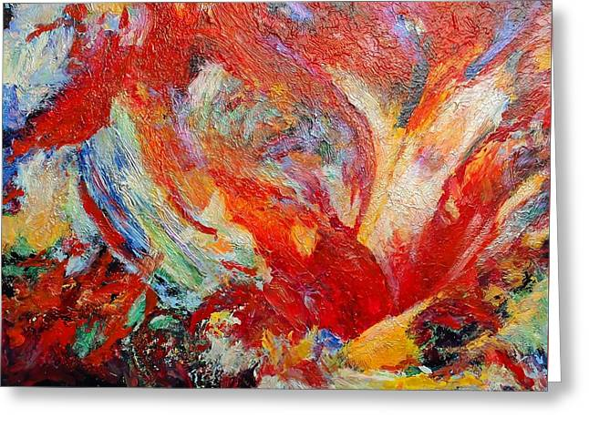 Exuberance Greeting Card by Michael Durst