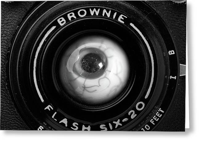 Greeting Card featuring the photograph Eye Am A Camera Surreal Photography by Edward Fielding