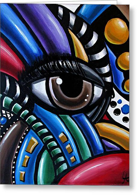 Eye Abstract Art Painting - Intuitive Chromatic Art - Pineal Gland Third Eye Artwork Greeting Card