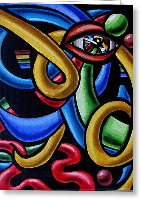Eye Art Print Chromatic Abstract Art Painting Colorful Optical Artwork  Greeting Card