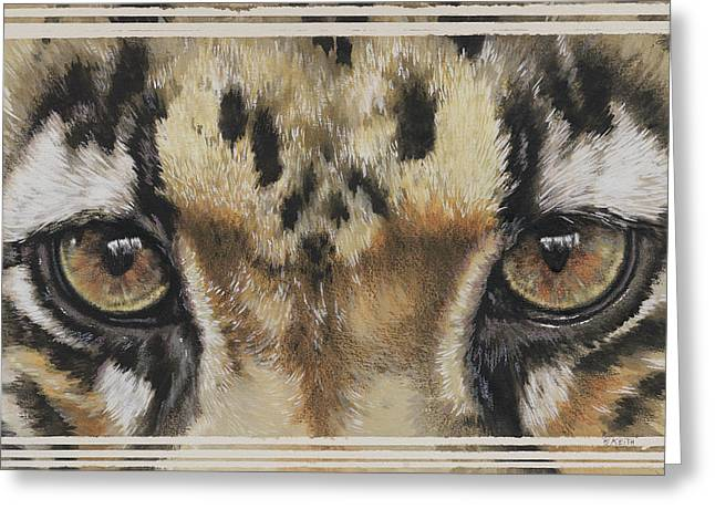 Clouded Leopard Gaze Greeting Card