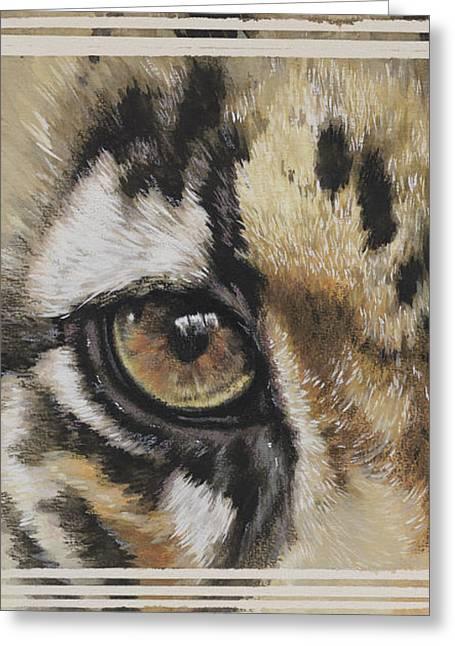 Clouded Leopard Gaze Greeting Card