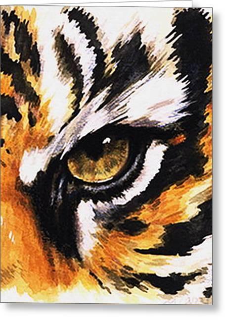 Eye-catching Sumatran Tiger Greeting Card by Barbara Keith