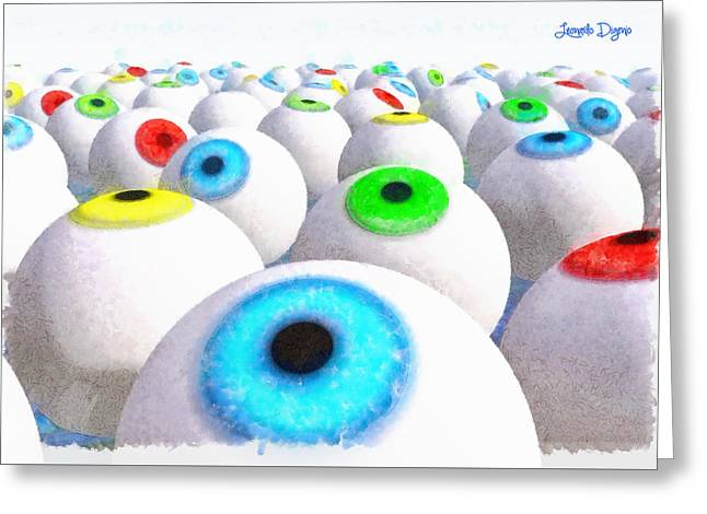 Eye Farming And Growing - Pa Greeting Card