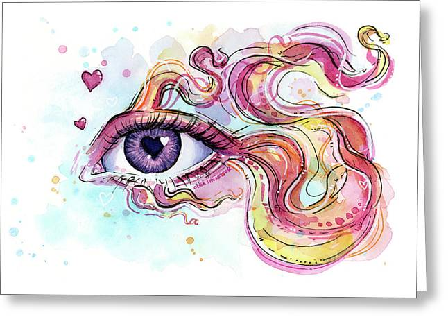 Eye Fish Surreal Betta Greeting Card
