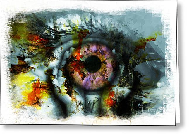 Eye In Hands 001 Greeting Card by Gull G