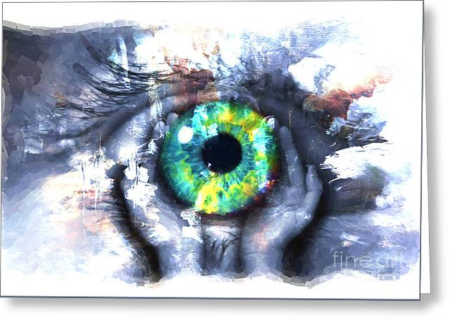Eye In Hands 002 Greeting Card by Gull G