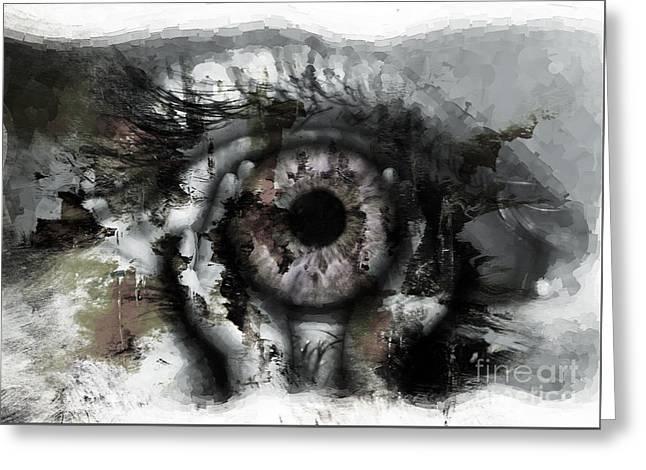 Eye In Hands Greeting Card by Gull G