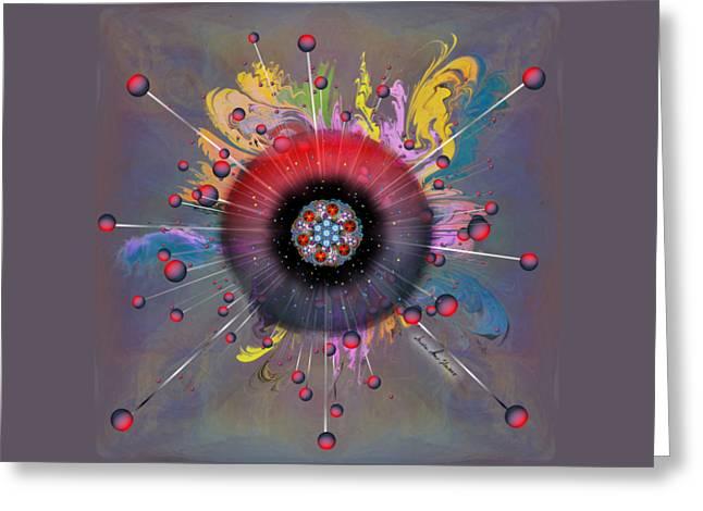 Greeting Card featuring the digital art Eye Know Dark by Iowan Stone-Flowers