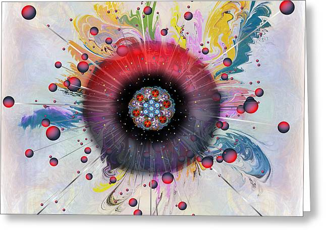 Greeting Card featuring the digital art Eye Know Light by Iowan Stone-Flowers