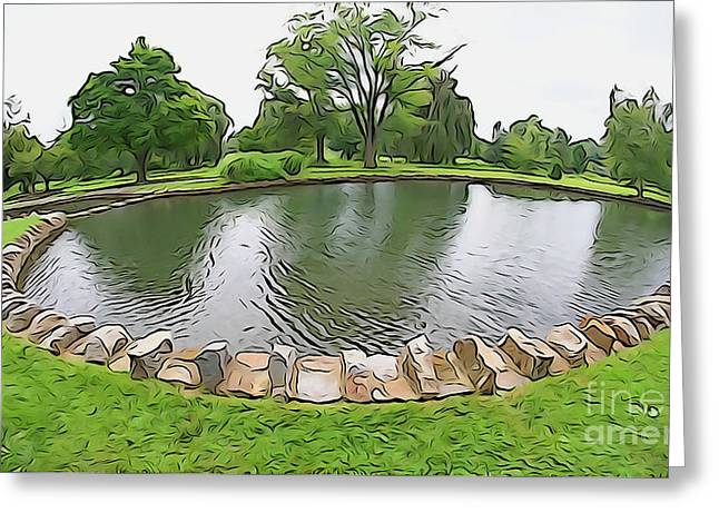 Greeting Card featuring the photograph Eye Lake by Cj Mainor