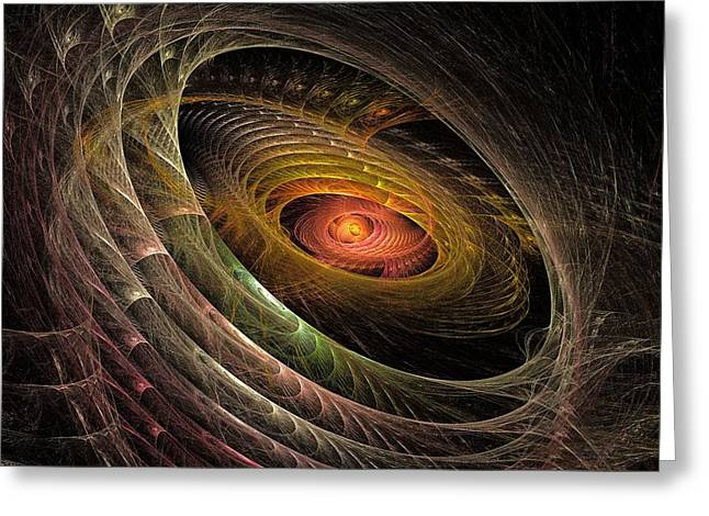 Eye Of Gaia Greeting Card by Doug Morgan