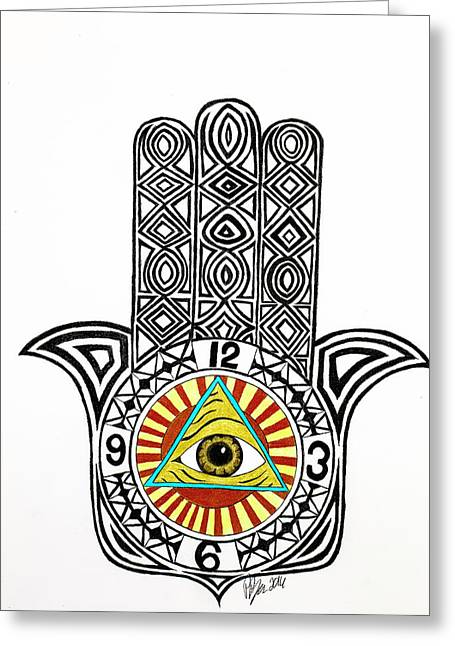 Eye Of Good Fortune  Greeting Card
