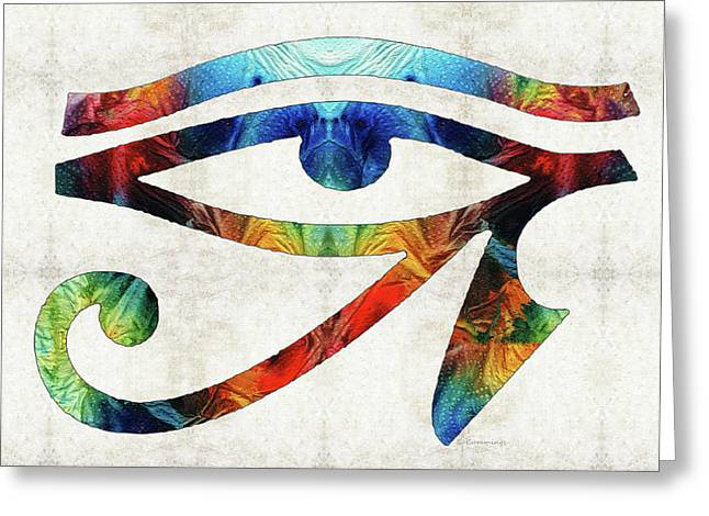 Eye Of Horus - By Sharon Cummings Greeting Card