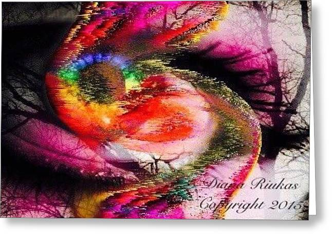 Eye Of Life Storm Greeting Card by Diana Riukas