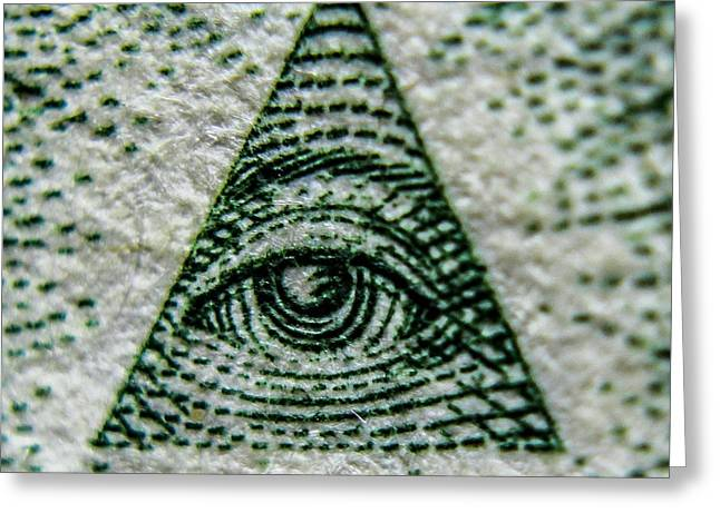 Eye Of Providence  Greeting Card by Rob Schmehl