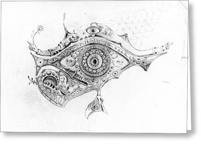 Eye Of Rah Greeting Card by Josh Gill
