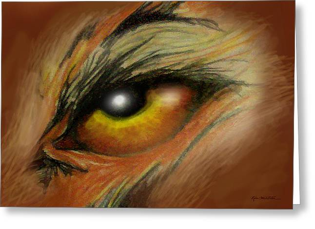 Eye Of The Beast Greeting Card by Kevin Middleton