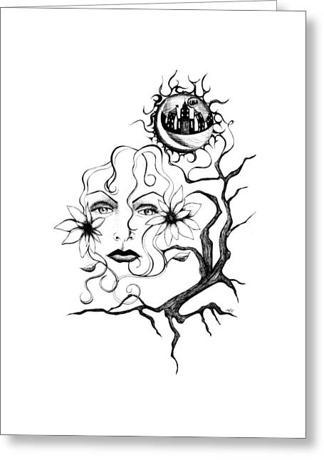 Eye Of The Beholder Greeting Card by Shawna Rowe