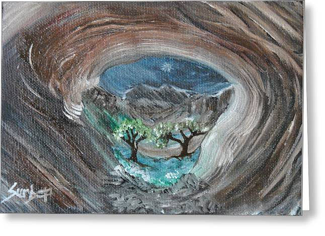 Eye Of The Beholder Greeting Card by Suzanne Surber