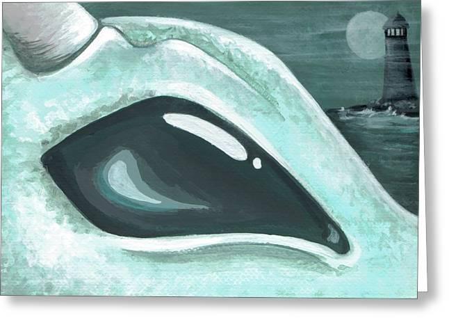 Eye Of The Coast Dragon Greeting Card by Elaina  Wagner
