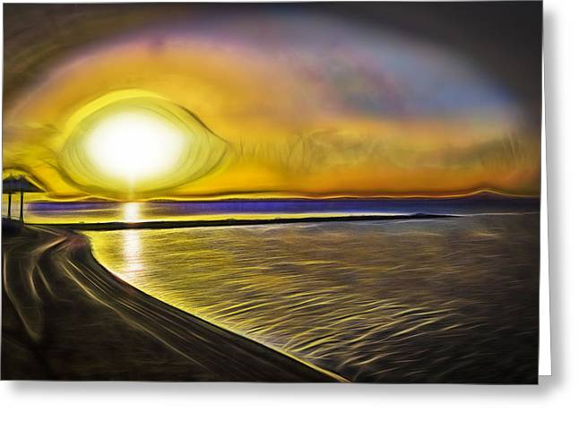 Greeting Card featuring the photograph Eye Of The Sun by Scott Carruthers