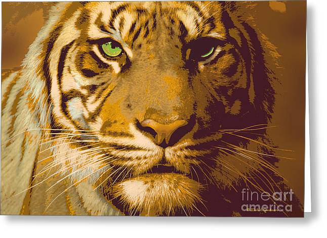 Eye Of The Tiger Animal Portrait  Greeting Card