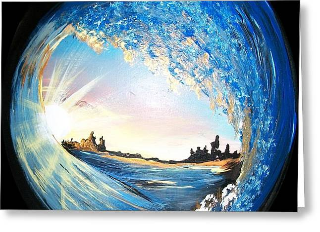 Eye Of The Wave Greeting Card