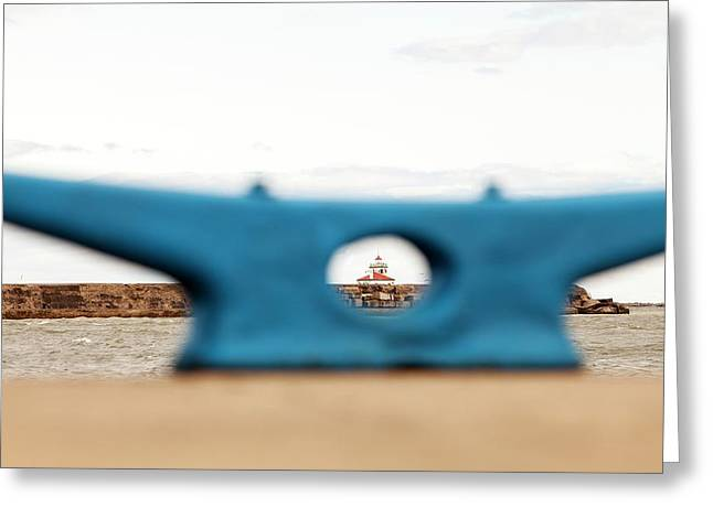 Greeting Card featuring the photograph Eye On Oswego Lighthouse by Chris Babcock