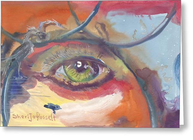 Eye See A Bird Greeting Card
