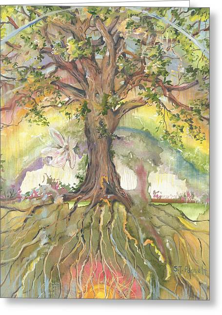 Eye See My Healing Tree Greeting Card