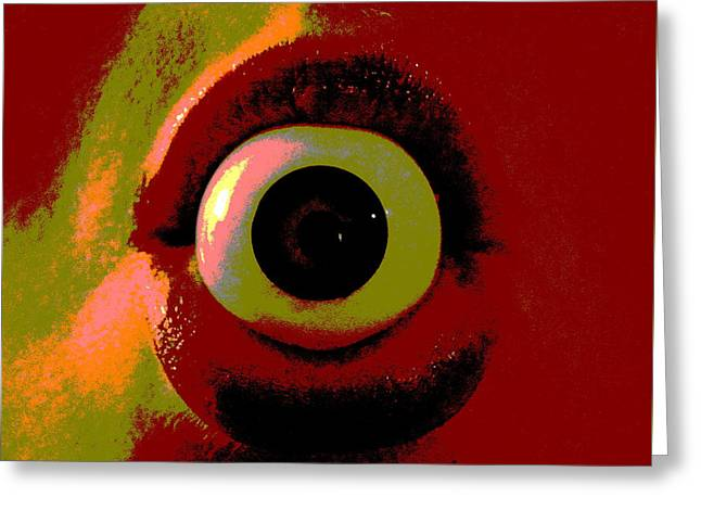 Greeting Card featuring the photograph Eye See You  by W And F Kreations