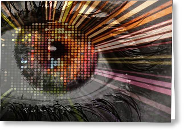 Eye Thoughts Greeting Card by Katie Ransbottom