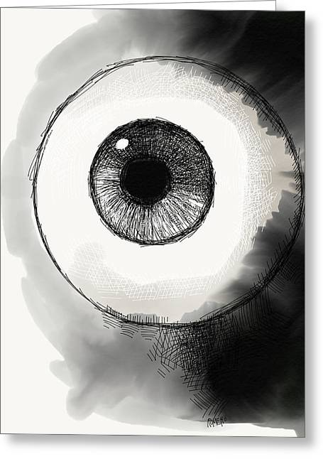 Greeting Card featuring the digital art Eyeball by Antonio Romero