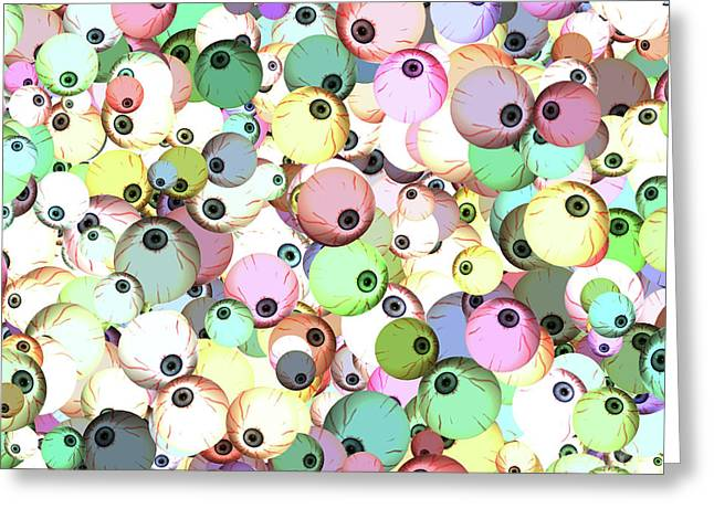 Greeting Card featuring the digital art Eyeballs by Methune Hively