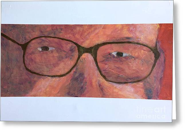 Greeting Card featuring the painting Eyes by Donald J Ryker III