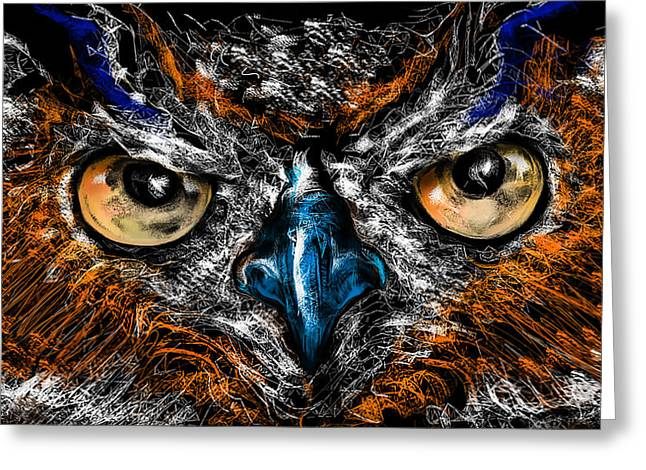 Eyes In The Night... Greeting Card