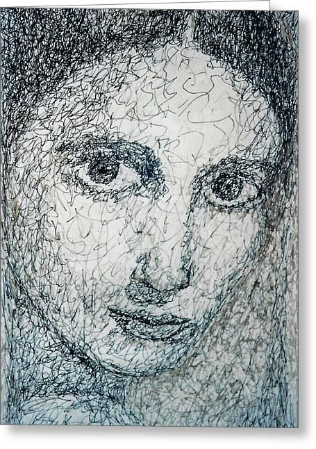 Eyes Greeting Card by Maria Valladarez