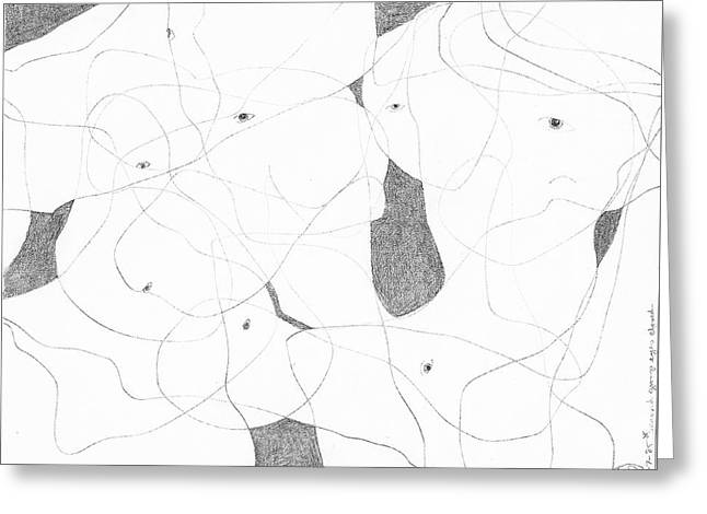 Eyes Of Ambiguity Greeting Card by Terrance DePietro