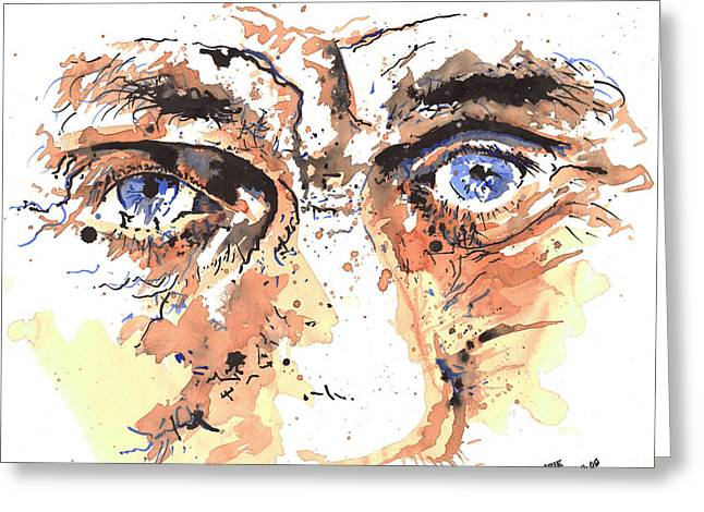 Eyes Of An Old Man Greeting Card