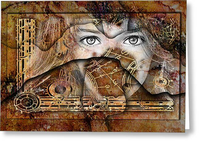 Eyes Of An Oracle Greeting Card by Tim Thomas