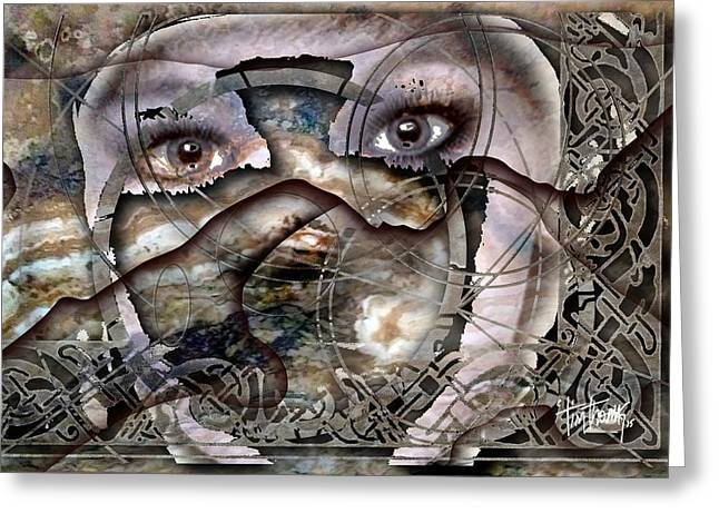 Eyes Of Antiquity Greeting Card by Tim Thomas