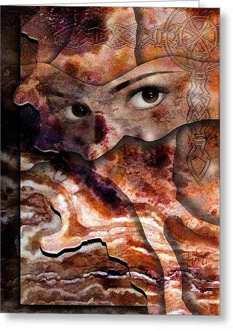 Eyes Of Autumn Greeting Card by Tim Thomas