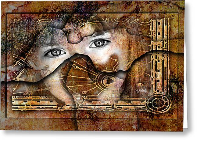 Eyes Of Divination Greeting Card by Tim Thomas