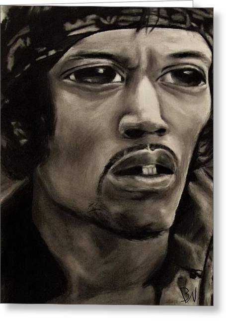 Eyez Of Hendrix Greeting Card